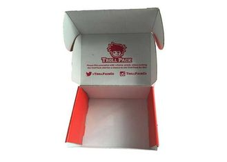 Colored Corrugated Mailing Boxes , Custom Retail Packaging Die Cut Paper Box