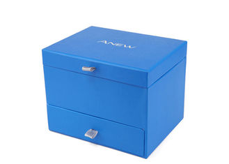 Personalized Rigid Cardboard Drawer Box Magnetic Closure Watch Gift Box For Men