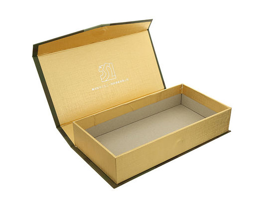 China Rectangle Paper Magnetic Closure Box Chipboard Gift Boxes For Cufflink / Belt supplier