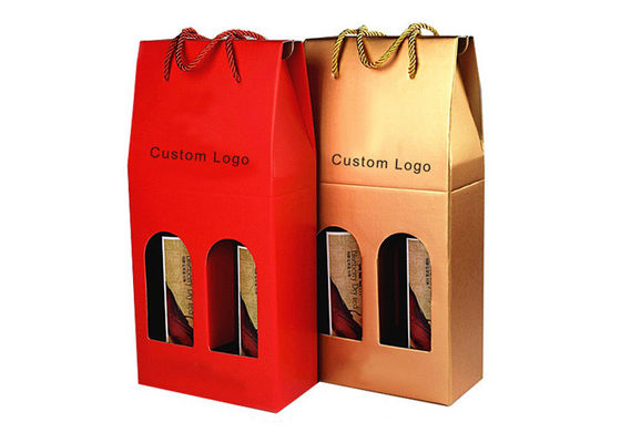 China Professional Kraft Paper Shopping Bag , Gift Packaging Bags For Wine Bottle supplier