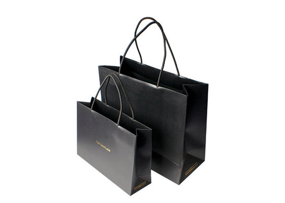 China Black Matt Laminated Paper Shopping Bags For Retail Store Innovative Design supplier