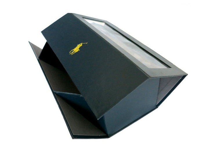 Clear Window Gift Boxes With Ribbon Rigid Cardboard Folding Boxes