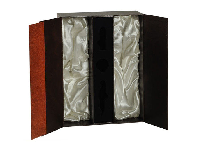 Deluxe Christmas Wine Bottle Gift Boxes Cylinder Kraft Paper Gift