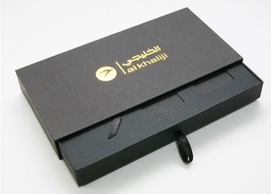 Durable Decorative Paper Slide Box , Cardboard Storage Boxes With Drawers