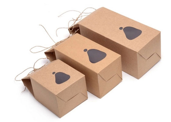 Custom Made Stand Up Kraft Cardboard Boxes For Retail Store 10*10*15cm Size