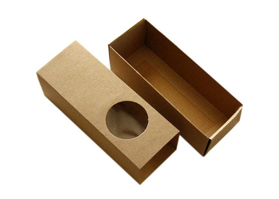 Hot Stamping Printed Small Kraft Boxes , E Flute Kraft Cardboard Gift Boxes
