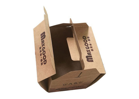 Circular / Oval Shaped Plain Brown Kraft Cardboard Boxes With Drawers Foldable