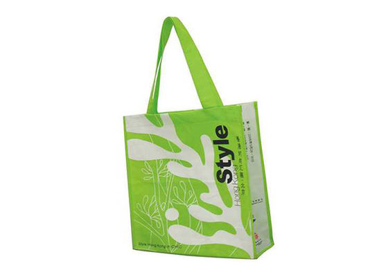 Long Handle Foldable Non Woven Bags Side Guested 38x42cm Size Lightweight