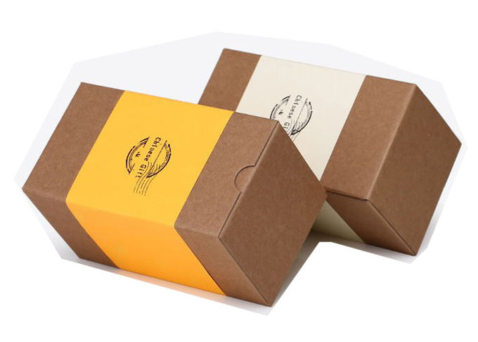 Sturdy Matchbox Style Gift Boxes , Craft Cardboard Boxes With Logo Printed